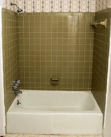 Tub to Shower for Senior with No Barrier Shower Pan in Montgomery, AL