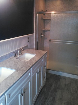 Bathroom Remodeling Service Sink and Shower